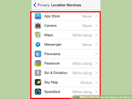 How to Set Location Services on an iPhone 6 Steps with