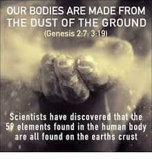 Scientists Discovered Our Bodies Are Made From 59 Elements Of The Ground Earths Crust Supporting Genesis May People Know That You Whose Name Is