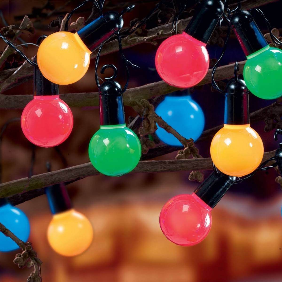 Premier Multi Action Large Ball Party Lights - 20 Bulb