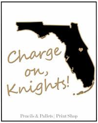 UCF Print Charge On 8x10 Knights By PencilsAndPallets