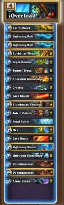 top 500 legend loe overload shaman deck competitivehs