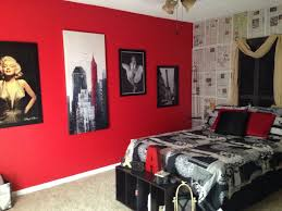 cool red and black marilyn monroe bedroom 67 for home design