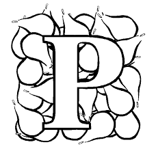 Letter P Pear Coloring Page