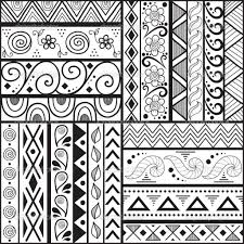 Simple Designs To Draw On Paper Easy Art Patterns For Kids