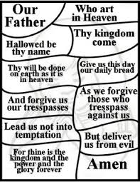 Lords Prayer For Children Free Coloring Pages National Day Of