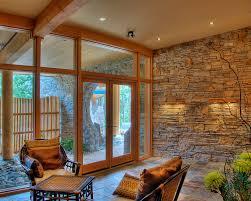 steinwand im wohnzimmer schöne design aequivalere
