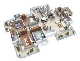 Beautiful Apartment Layout Ideas 50 Four 4 Bedroom Apartmenthouse Plans Floor