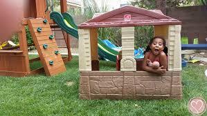Step2 Happy Home Cottage U0026 by Newest Outdoor Playhouse Step2 Neat U0026 Tidy Cottage Ii De Su Mama