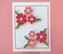 8 Handmade Paper Flowers Card For Friend