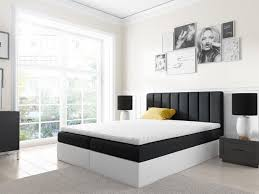 boxspringbett schlafzimmerbett gabriel 180x200cm schwarz weiss