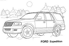 Cars Ford Expedition Coloring Pages For Kids Printable