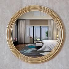 durchmesser 68cm retro goldene dekorative spiegel amerikanischen luxus stil home wand decor badezimmer tv hintergrund spiegel