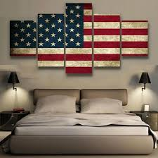 Rustic American Flag Patriotic Wall Art Canvas