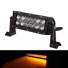 6 INCH 36W AMBER WHITE LED STROBE LIGHT BAR