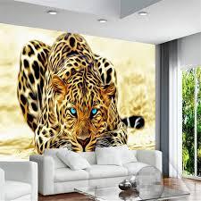 beibehang 3d custom tapete hause dekoration tapete bild wohnzimmer 3d tapete leopard tier hintergrund foto wandbild
