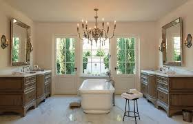 Chandelier Over Bathtub Soaking Tub by Kohler Vintage Soaking Tub With 19th C French Empire Crystal