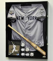 Image Of Jersey Shadow Box Display Case