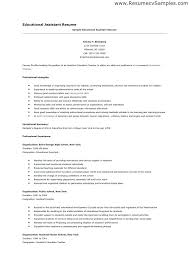 Special Education Paraprofessional Resume Example Assistant Sample Effective Educator Samples