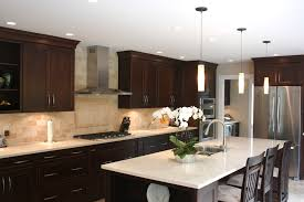 Kitchens With Dark Cabinets And Light Countertops by Kitchen Outstanding Kitchen Backsplash Ideas With Dark Cabinets