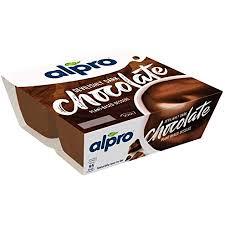 alpro soya dessert dunkle schokolade 4x125g 46157
