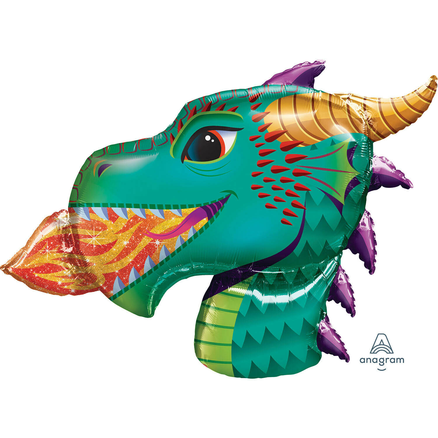 Amscan Fire Breathing Dragon Head Foil Balloon - 36""
