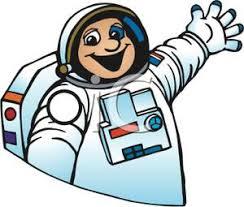 Clip Art Image A Waving Astronaut