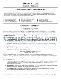 Best Receptionist Resumes Examples Of Resume Reception