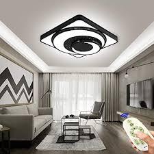 coosnug led deckenleuchte 48w dimmbar wohnzimmer deckenle modern deckenleuchten kueche flur schlafzimmer schwarz