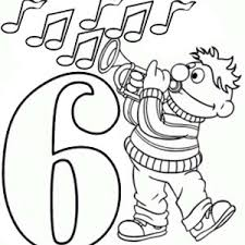 Number 6 Coloring Pages Birthday Balloons And Page Bulk Color