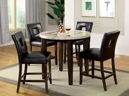 Elgin Off White Round Counter Height Table Set
