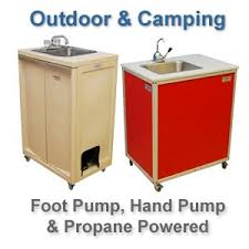 Mobile Self Contained Portable Electric Sink by Portable Sink Portable Hand Wash Stations Monsam Enterprises Inc