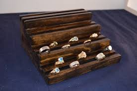 Tiered Jewelry Store Ring Display Multiple Holder