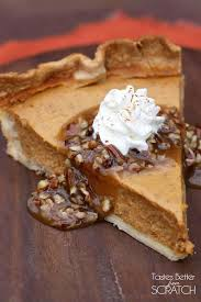 Pumpkin Pie With Pecan Praline Topping by Pumpkin Pie With Caramel Pecan Topping Tastes Better From Scratch