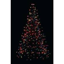 Home Depot Lit Trees Incandescent Artificial Tree With Multi Color Lights Martha Stewart Christmas Pre 75