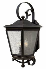 hinkley 2468oz lincoln rubbed bronze outdoor wall light