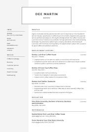 Barista Resume Templates 2019 (Free Download) · Resume.io How To Write A Cover Letter Get The Job 5 Reallife Resume Formats Find Best Format Or Outline For You Unique Writing Address Leave Latter Can Start Writing Assistant Store Manager Resume By Good Application What Makes Sample An Experienced Computer Programmer Fiddler Pre Written Agenda Voice Actor Mplates 2019 Free Download Resumeio Cstruction Example Tips Genius Career Center Usc Letter Judge Professional