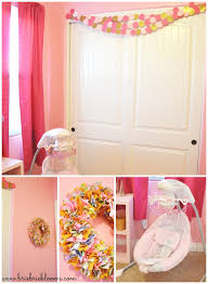 Peach Curtains For Nursery by Pink And Gold Nursery Brie Brie Blooms