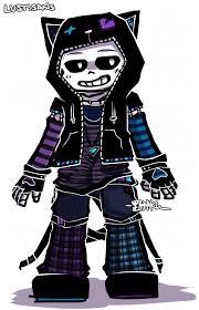 Macithemahsee Wants Me To Design An Outfit For Underlust Sans In My Clothes Style But I End Up Overdoing This Concept Art