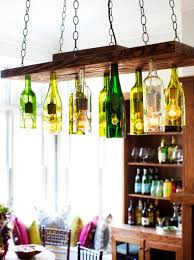 Nice Wine Bottle Light Fixture Chandelier Brighten Up With These Diy Home Lighting Ideas Decorating And