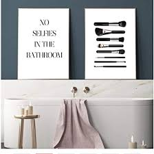lustig keine selfies im badezimmer pinsel wandkunst leinwand