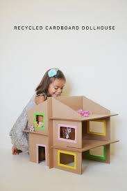 10 cardboard crafts for kids cardboard dollhouse diy recycle