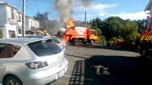 Rubbish Truck Catches Fire | Otago Daily Times Online News