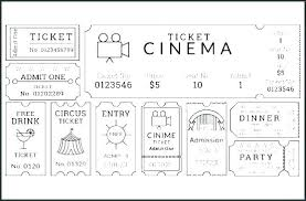 Admission Ticket Template Dinner Free Printable Movie New Concert Kid Tickets It Dance Event Carnival
