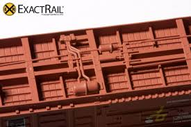 N - PS 50' Waffle Boxcar | DME DF Equipped | ExactRail