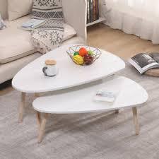 details zu design beistelltisch 2er set retro couchtisch kaffeetisch wohnzimmer tisch weiß