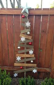 Scrap Wood Christmas Yard Decor With A Dash Of Dollar Store Ornaments