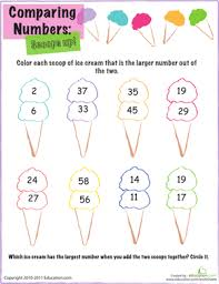Ideas Of Comparing Numbers Coloring Sheet With Additional Download