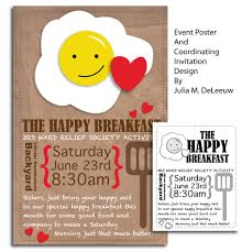 Event Poster And Coordinating Invitation Design