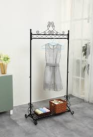Decorative Metal Garment Rack by Chic Hanging Clothes Rail Metal Garment Coat Clothing Rack Stand