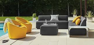 Modern Outdoor Furniture Most Recommended Design Gray Fabric Seat Cover Sofa Rectangle Coffee Table Wooden Framework